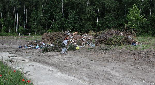 200m3 de déchets laissés